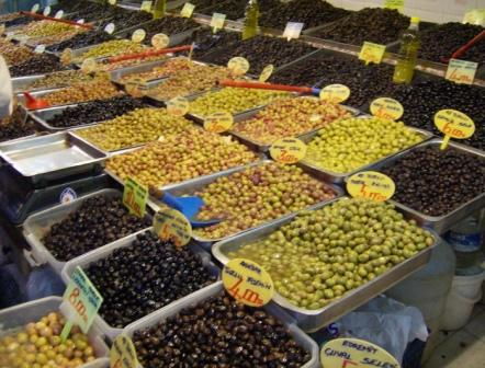 Olivenstand auf dem Basar