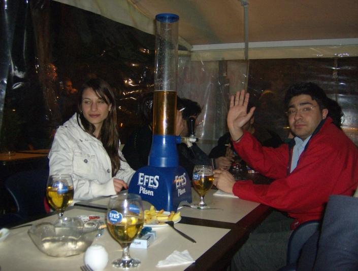 Menü mit Bier und Nargile