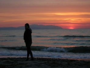Sonnenuntergang in Kusadasi