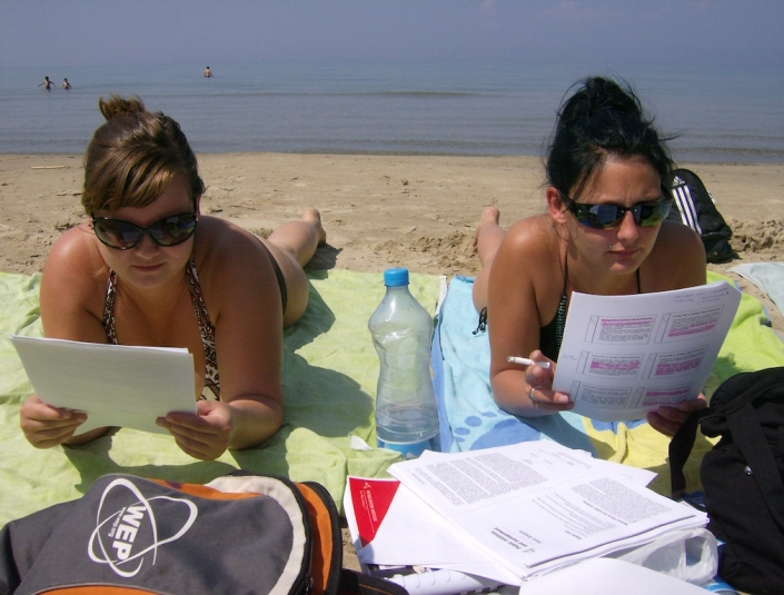 Lernen am Strand