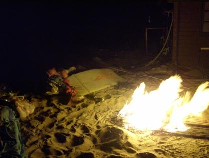 Eine Nacht am Strand in Cesme