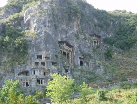 Die Gräber bei Fethiye