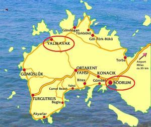 Karte: Halbinsel Bodrum