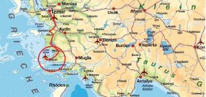Karte: Izmir - Bodrum - Yalıkavak