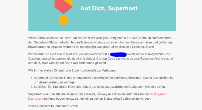 Airbnb Superhost Auszeichnung