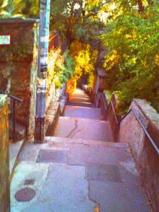 Kroatien - Rijeka - die Treppenstufen zum Trsat