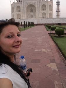 Selfie vor dem Taj Mahal ohne Taj Mahal