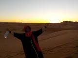 Sonnenaufgang in der Wüste mit meinem tollen Guide Ahmed