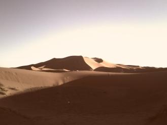 Wüste bei Merzouga in Marokko