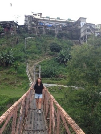 Hängebrücke in Banaue