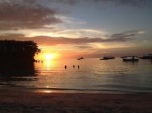 Sonnenuntergang am Logon Beach auf Malapascua