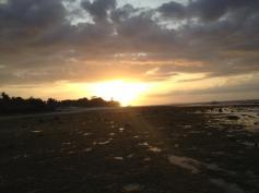 Sonnenuntergang auf Pamilacan Island