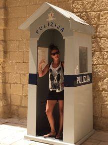 Polizei in Mdina Malta
