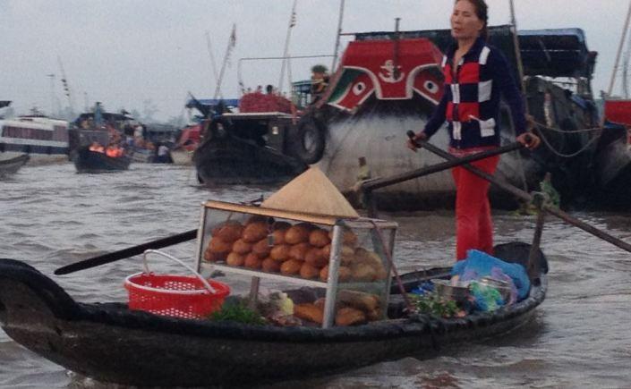 Schwimmender Markt Can Tho Vietnam