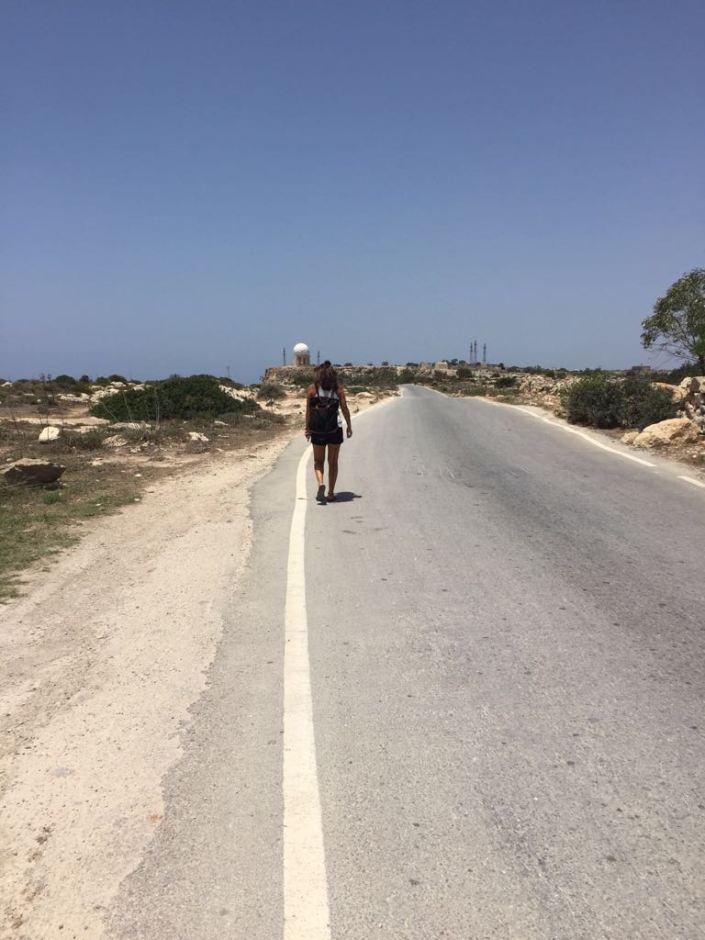 Weg von den Dingli Cliffs nach Dingli